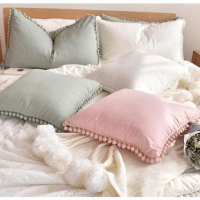 Extravagant POM POM Throw Cushion | Celiné Pillow