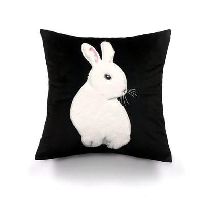 French Kiss by Celiné Desire Pillow A bunny thinker / 45x45cm