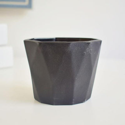 Little Hero by Jasmine Bergmann Vase Pure Black
