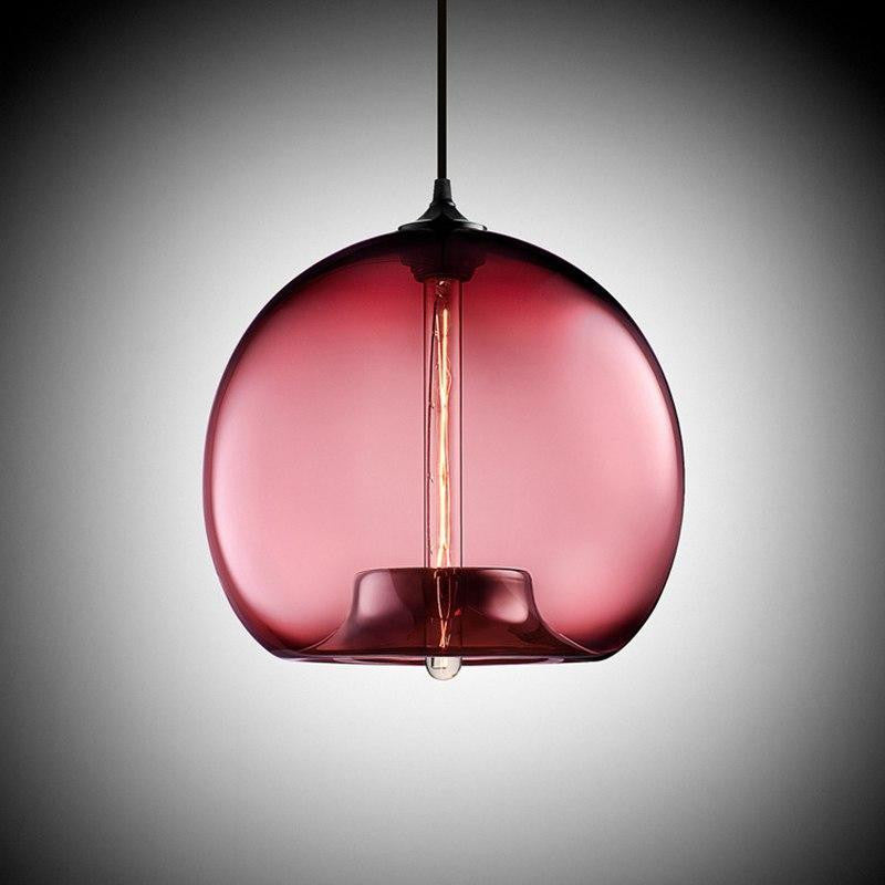 Freelight Glass Globe Pendant Light unique and elegant Pendant lighting wine red