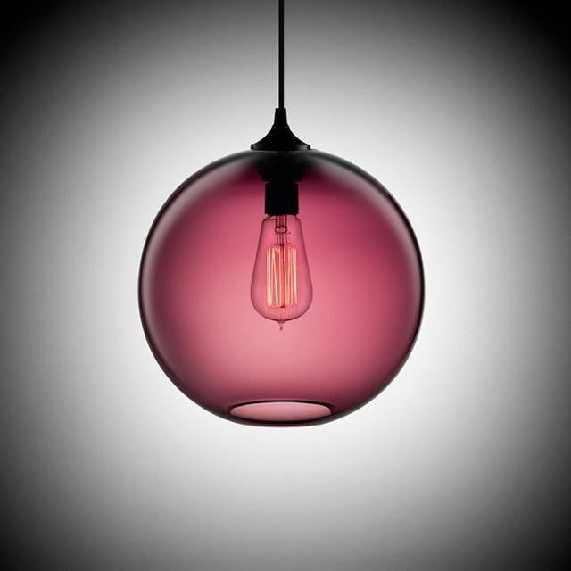 Freelight Loft Globe Pendant Light Pendant lighting Cozy pink / Ø25cm