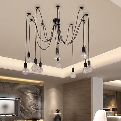 Spider Smile Chandelier unique and elegant Pendant lighting 10 heads / 250cm