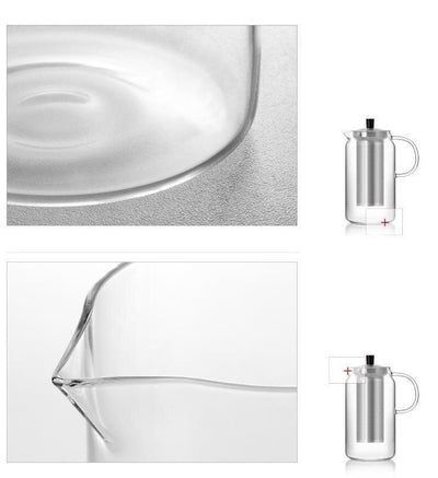 Yomoto Amemori Glass Tea Set 1200ml / 6+1pcs unique and elegant Kettle