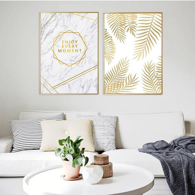 Fabulous Gold Marble Canvas print - Wall Art