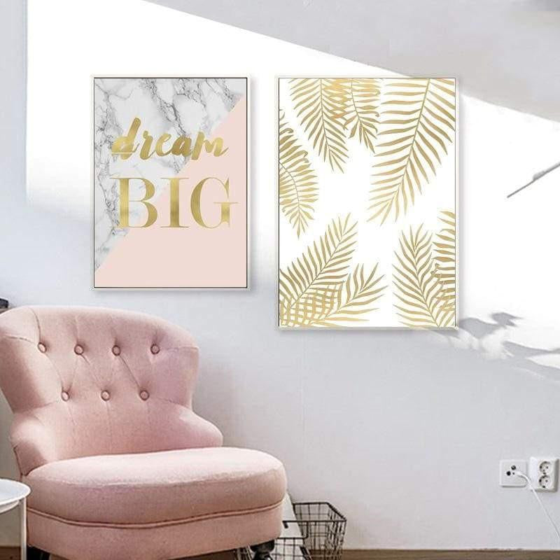 Fabulous Pink Marble Canvas print - Wall Art