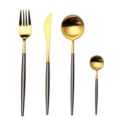 Ophelia by Zane Bautista 4pcs/set Flatware Black
