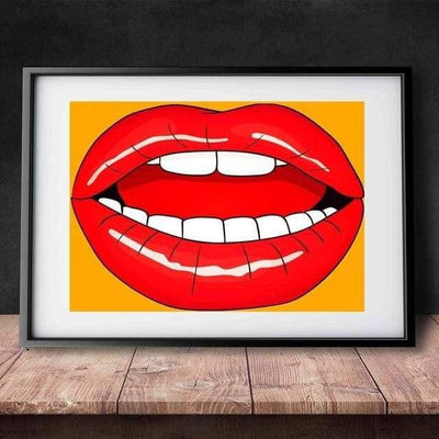 KISS ME - Lips with passion Poster print - Wall Art 60x90cm / Bite me