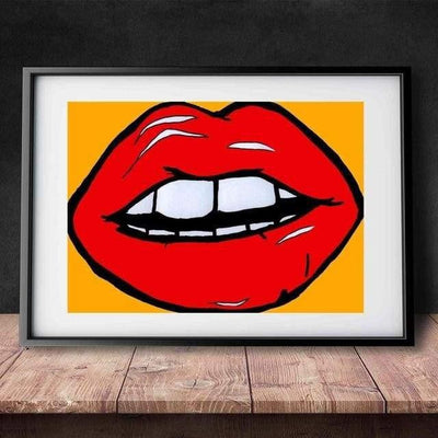 KISS ME - Lips with passion Poster print - Wall Art 60x90cm / Kiss me