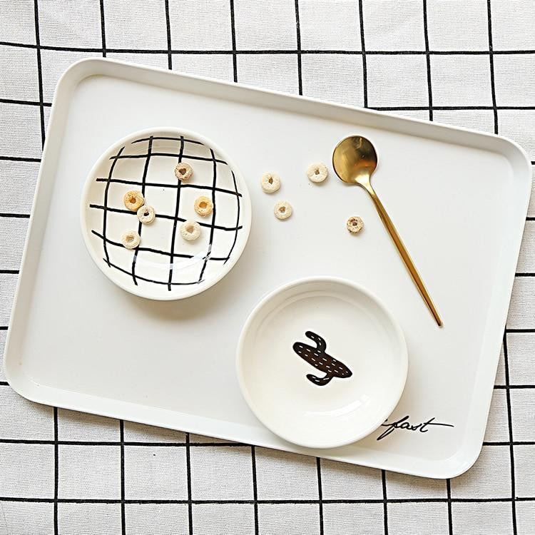 B&W by Una Hubmann 3pcs/set unique and elegant Dinnerware