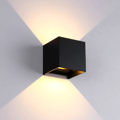 Veronica Cube S2 Wall Lamp Deco Wall lamp Deep black / 7W / Cold White