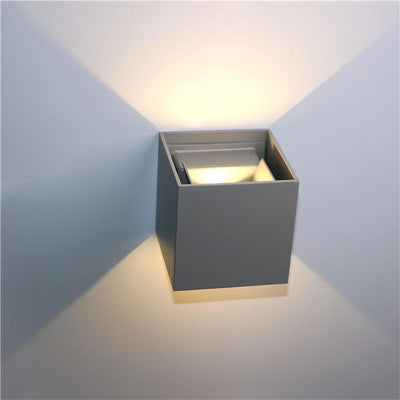Veronica Cube S2 Wall Lamp Deco Wall lamp Cool gray / 7W / Cold White