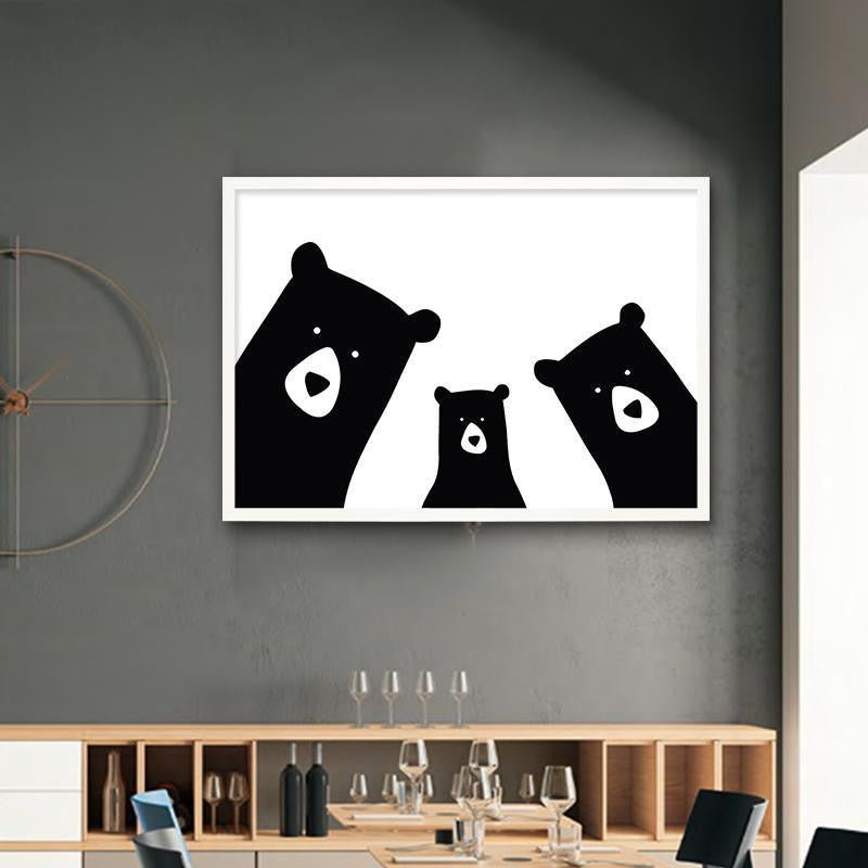 We Are Bears Family Canvas print - Wall Art