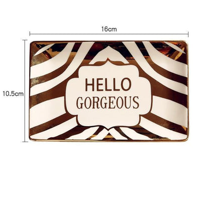 Gorgeousiela Gortwinkle Plate/Decorative Tray Tray Hello G Tiger