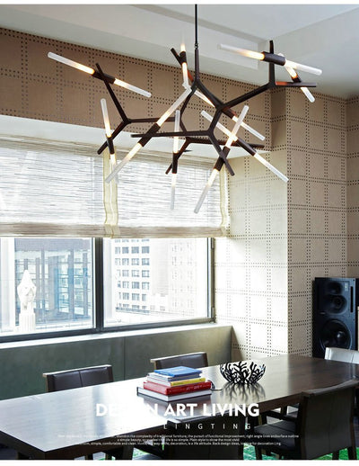 Rotterdam Pipe Glass/Metal Pendant Light unique and elegant Pendant lighting