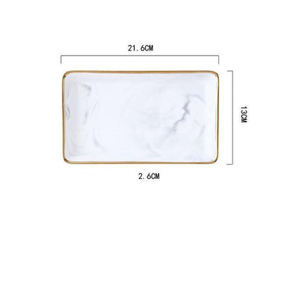 Angebianco Rose Marble Tray/Serving Tray Rose / Small