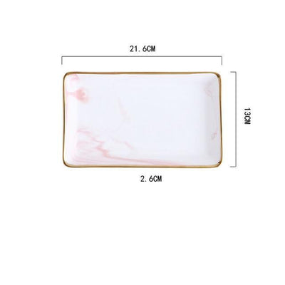 Angebianco Rose Marble Tray/Serving Tray Rose / Large