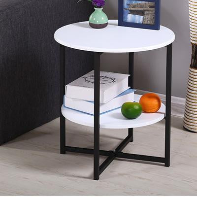 Haruno Wood Table Side table White