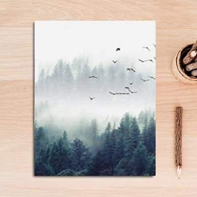 Fabulous Trio Foggy Forest | Zenk Canvas print - Wall Art B / 60x90cm