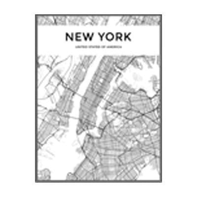 Minimalist City Map Canvas print - Wall Art 60x90 cm / NEW YORK