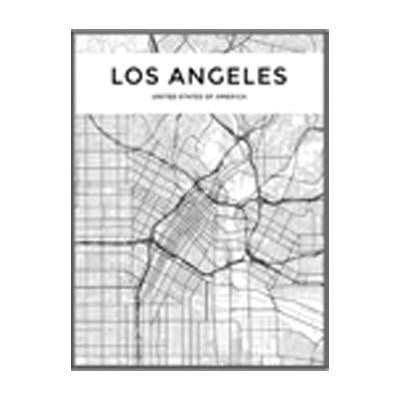 Minimalist City Map Canvas print - Wall Art 60x90 cm / LOS ANGELES