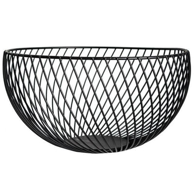 Nordic by Frederick Vaux / Wire Baskets Basket Cool black