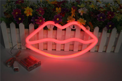 Superstar Love Red Lips Wall/Table Light Table/Wall lamp