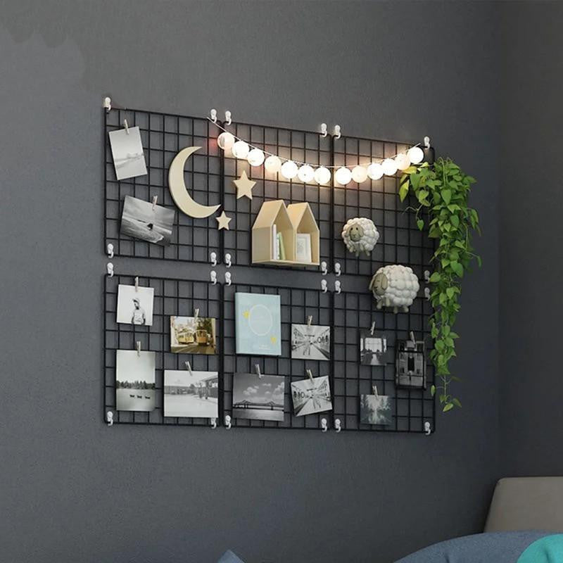 Exploration by Henry |  | Metal Photo Wire Grid | Wall Creative Grid | Panel Shelf