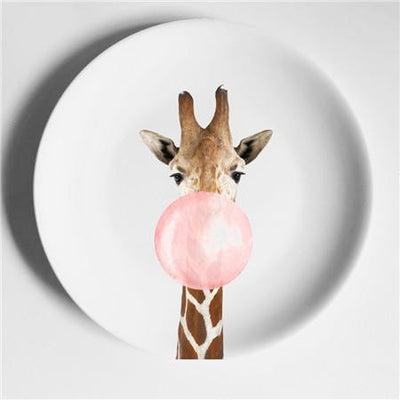 Happy Animals Plates Plates Giraffe / 6 inch