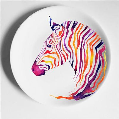 Happy Animals Plates Plates Zebra from Africa / 6 inch