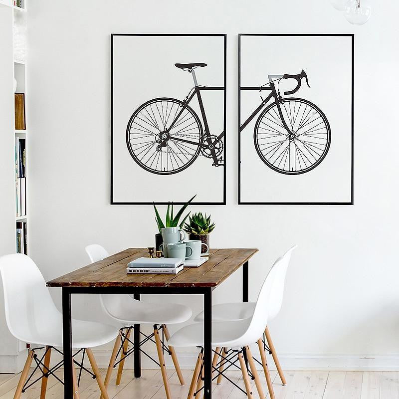 Beatrice Vintage Bike | 2pcs Set Canvas print - Wall Art