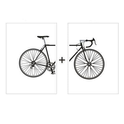 Beatrice Bike Vintage Canvas print - Wall Art Rear and Front / 60x80 cm