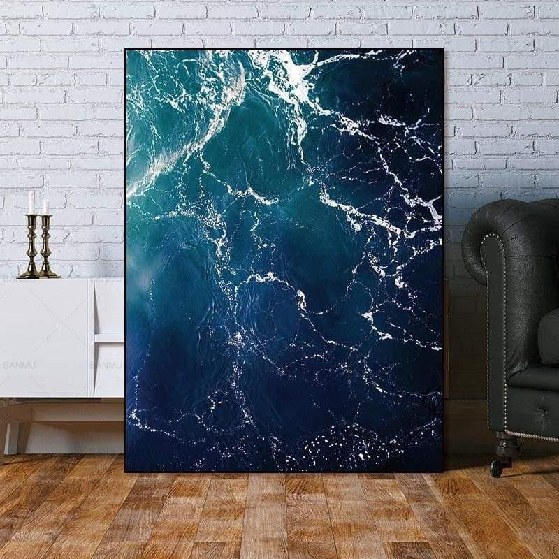 Fabulous Marble Sea | Zenk Canvas print - Wall Art