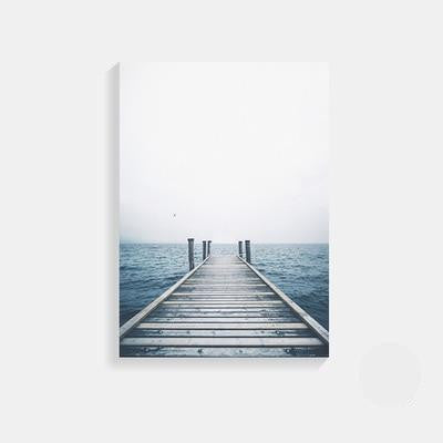 Fantastic Open Sea | Unframed Canvas Art unique and elegant Canvas print - Wall Art Impenetrable dock / 50X70cm