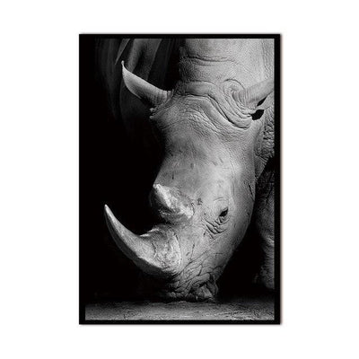 Do You See Me? Canvas print - Wall Art Strong Rhinoceros / 60x90cm