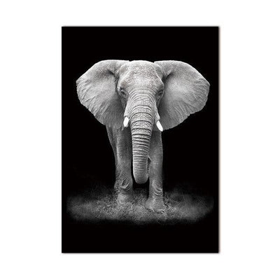 Do You See Me? Canvas print - Wall Art Charming Elephant / 60x90cm
