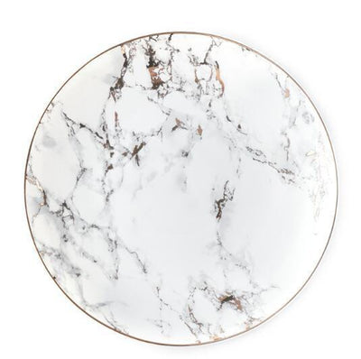 West Point by Celiné Plate Plates Light marble / 10 inches