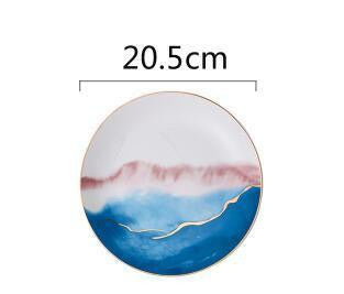 Fabienne Collection Plate Plates Sea / M