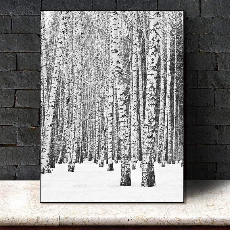 Deep Winter Forest Inspirational Canvas print - Wall Art 60X90cm