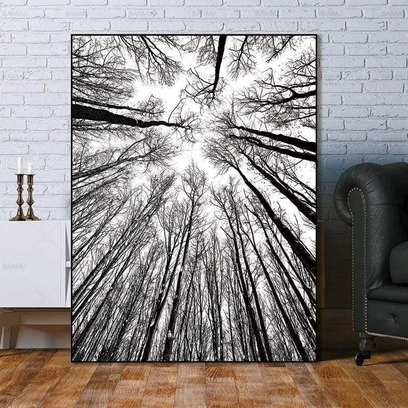 Bird View Minimalism Forest Canvas print - Wall Art 60X90cm