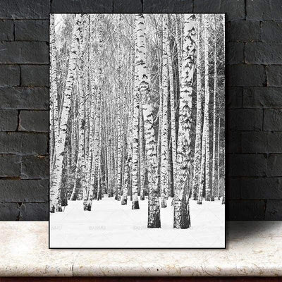 Deep Winter Forest Inspirational | Unframed Canvas Art unique and elegant Canvas print - Wall Art