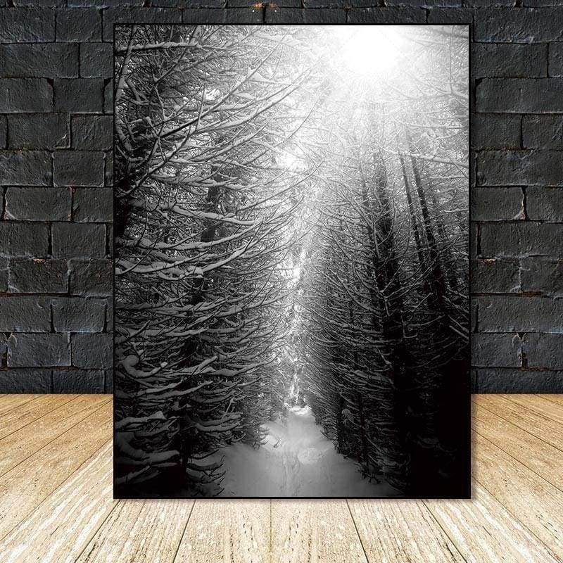 Find Your Fairytale In The Wood | Foggy Winter Forest Canvas print - Wall Art