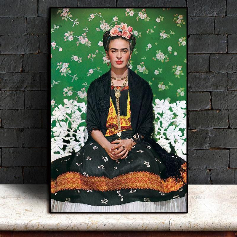 Rebel Frida Kahlo Meditation Canvas print - Wall Art 60cmX90cmX1Pc