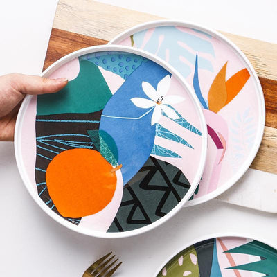 Renard Adorable Abstract Plate Plates
