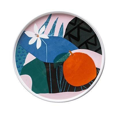 Renard Adorable Abstract Plate Plates Orange