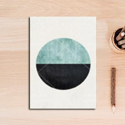 Nordic Essentials Two Canvas print - Wall Art Circle / 60x90 cm