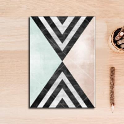Nordic Essentials Two Canvas print - Wall Art Hypnotic triangle / 60x90 cm
