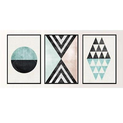 Nordic Essentials Two Canvas print - Wall Art 3pcs / set / 60x90 cm