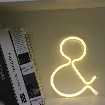 Supernova Alphabet Wall/Desk Light Table/Wall lamp And - warm white
