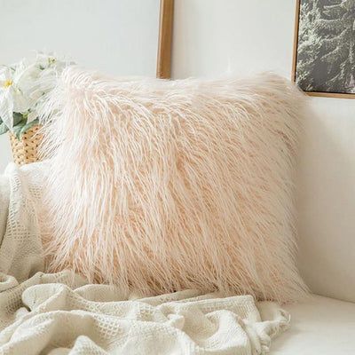 Comfy Fluffy Faux Celiné Cushion Pillow Pink / 60x60cm