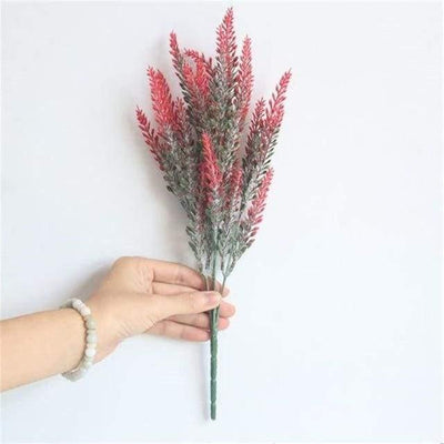 Flowers of Provence by Una Hubmann Artificial Flowers Lava Red